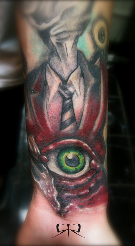 Alex pardee inspired tattoo