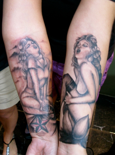 This is by-far one of the coolest sister tattoo's I've ever got to do…