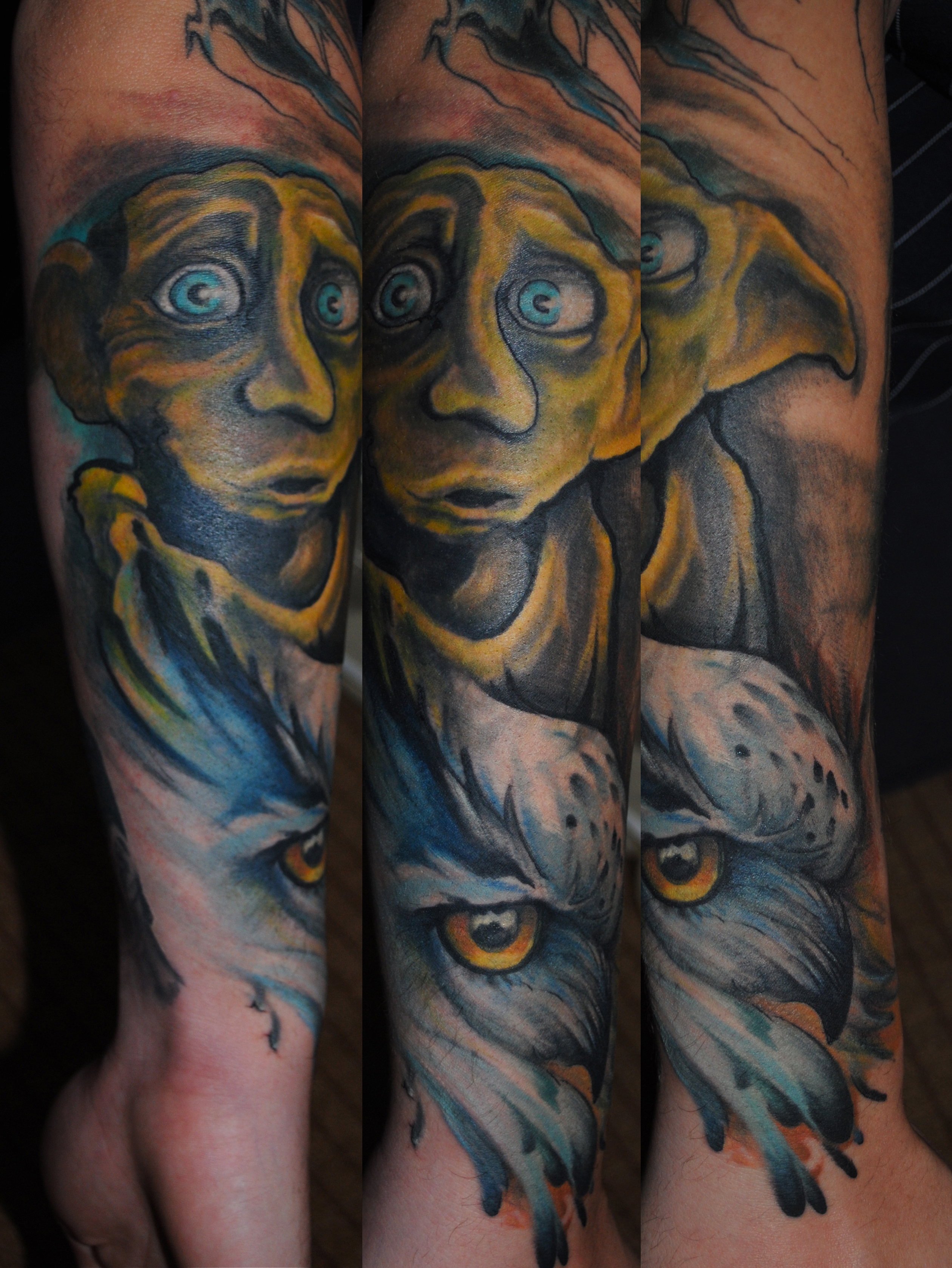 Harry potter love a tattoo art 39 s gallery for Harry potter sleeve tattoo