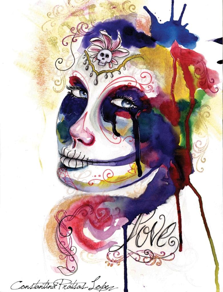 dia de los muertos - love  watermark