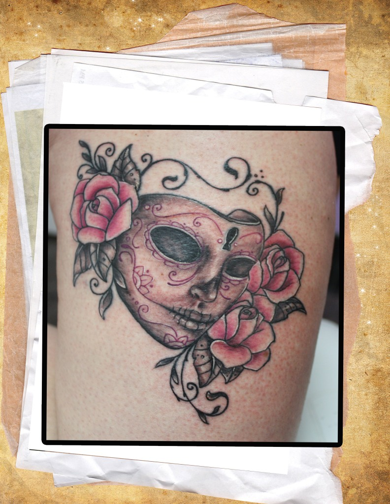 Mask with roses2
